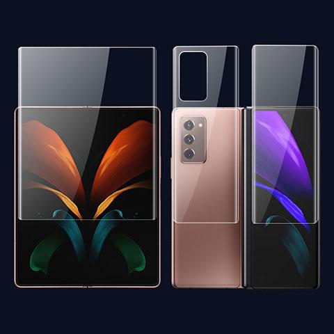 Schutzfolie Displayschutzfolie Panzerfolie Vorder und Rückseite Skins zum Aufkleben F01 für Samsung Galaxy Z Fold2 5G Klar