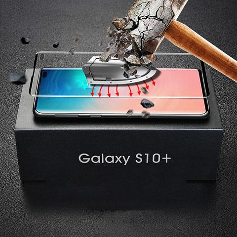 Schutzfolie Full Coverage Displayschutzfolie Panzerfolie Gehärtetes Glas Glasfolie Skins zum Aufkleben Panzerglas für Samsung Galaxy S10 Plus Schwarz