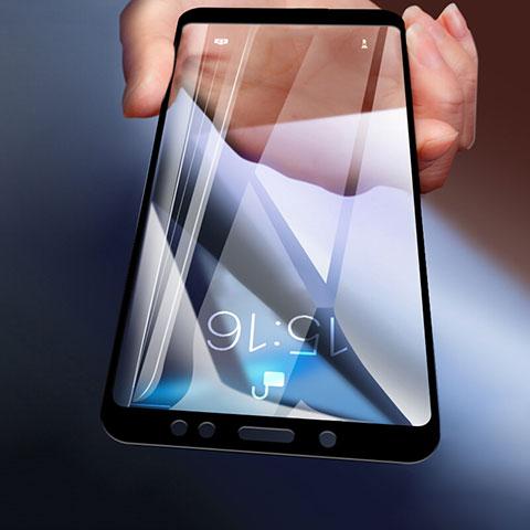 Schutzfolie Full Coverage Displayschutzfolie Panzerfolie Skins zum Aufkleben Gehärtetes Glas Glasfolie für Xiaomi Redmi Note 5 Pro Schwarz