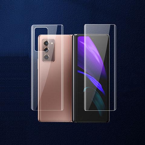 Schutzfolie Schutz Folie Rückseite Skins zum Aufkleben Panzerglas B02 für Samsung Galaxy Z Fold2 5G Klar