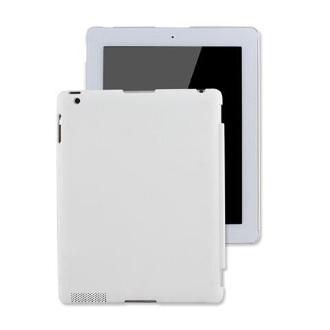 Schutzhülle Kunststoff Hülle Matt für Apple iPad 4 Weiß