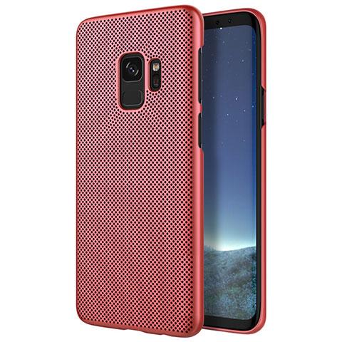 Schutzhülle Kunststoff Hülle Punkte Loch für Samsung Galaxy S9 Rot