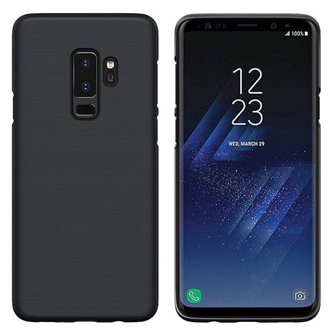 Schutzhülle Kunststoff Tasche Matt M02 für Samsung Galaxy S9 Plus Schwarz