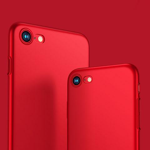 Schutzhülle Kunststoff Tasche Matt M10 für Apple iPhone 8 Rot