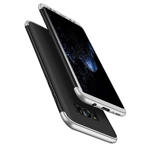 Schutzhülle Kunststoff Tasche Matt Vorder und Rückseite 360 Grad M03 für Samsung Galaxy S8 Silber