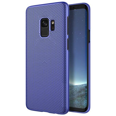 Schutzhülle Kunststoff Tasche Punkte Loch für Samsung Galaxy S9 Blau