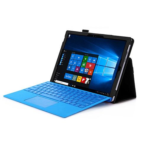 Schutzhülle Stand Tasche Leder für Microsoft Surface Pro 4 Schwarz