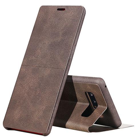 Schutzhülle Stand Tasche Leder L04 für Samsung Galaxy Note 8 Braun
