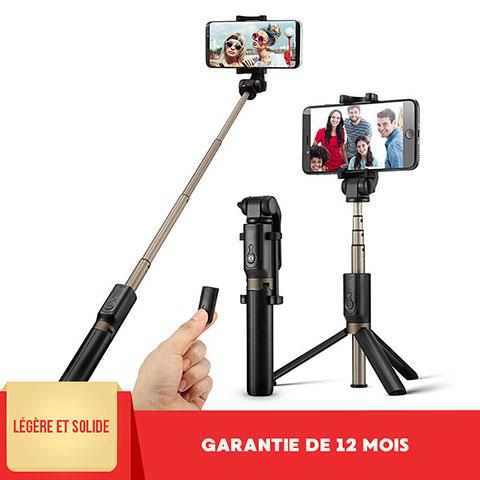 Selfie Stick Stange Bluetooth Teleskop Universal S27 Schwarz