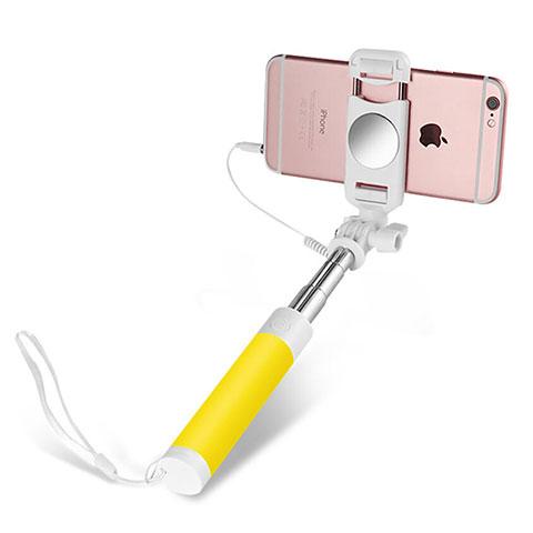 Selfie Stick Stange Verdrahtet Teleskop Universal S02 Gelb