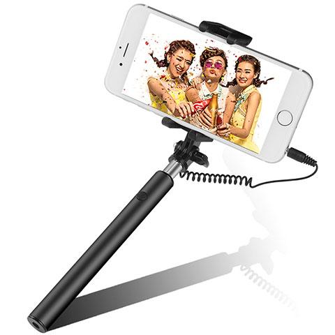 Selfie Stick Stange Verdrahtet Teleskop Universal S06 Schwarz