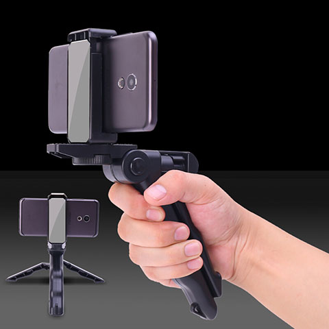 Selfie Stick Stange Verdrahtet Teleskop Universal S21 Schwarz
