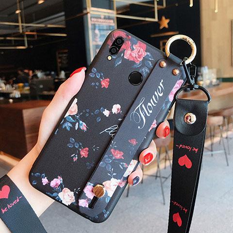 Silikon Hülle Gummi Schutzhülle Blumen für Huawei Honor 8X Plusfarbig