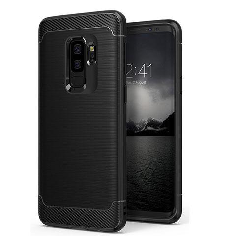 Silikon Hülle Gummi Schutzhülle Matt für Samsung Galaxy S9 Plus Schwarz