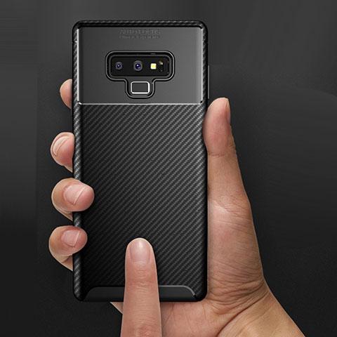 Silikon Hülle Handyhülle Gummi Schutzhülle Köper B02 für Samsung Galaxy Note 9 Schwarz
