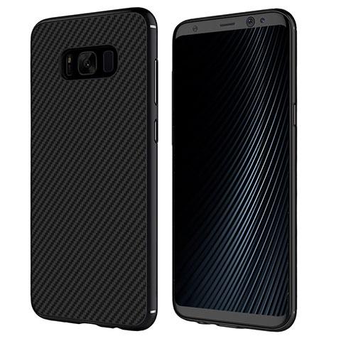 Silikon Hülle Handyhülle Gummi Schutzhülle Köper B02 für Samsung Galaxy S8 Plus Schwarz