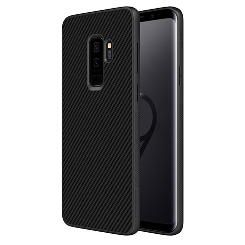 Silikon Hülle Handyhülle Gummi Schutzhülle Köper B02 für Samsung Galaxy S9 Plus Schwarz