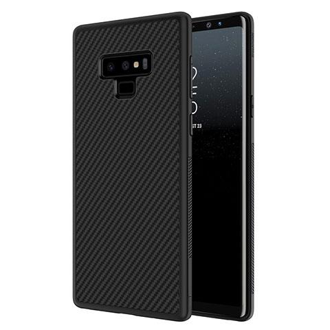 Silikon Hülle Handyhülle Gummi Schutzhülle Köper für Samsung Galaxy Note 9 Schwarz