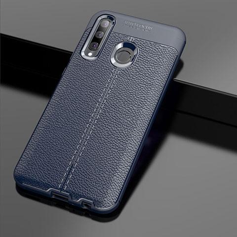 Silikon Hülle Handyhülle Gummi Schutzhülle Leder Tasche S01 für Huawei Honor 20 Lite Blau
