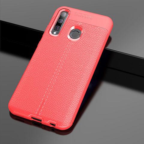 Silikon Hülle Handyhülle Gummi Schutzhülle Leder Tasche S01 für Huawei Honor 20 Lite Rot