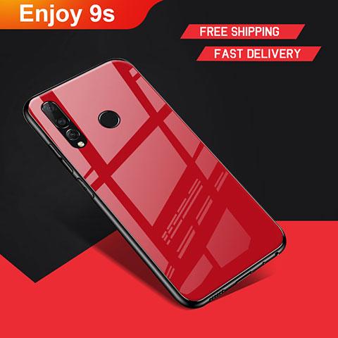 Silikon Hülle Handyhülle Gummi Schutzhülle Spiegel für Huawei Honor 20 Lite Rot