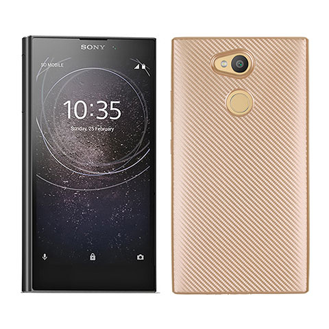 Silikon Hülle Handyhülle Gummi Schutzhülle Tasche Köper für Sony Xperia L2 Gold