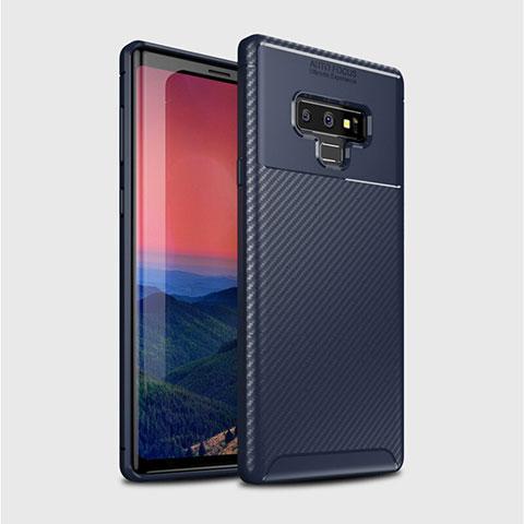 Silikon Hülle Handyhülle Gummi Schutzhülle Tasche Köper T01 für Samsung Galaxy Note 9 Blau