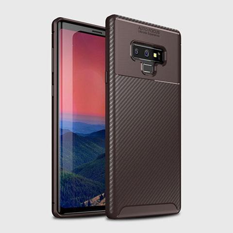 Silikon Hülle Handyhülle Gummi Schutzhülle Tasche Köper T01 für Samsung Galaxy Note 9 Braun