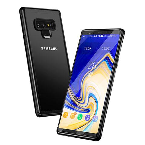 Silikon Hülle Handyhülle Rahmen Schutzhülle Durchsichtig Transparent Spiegel für Samsung Galaxy Note 9 Schwarz