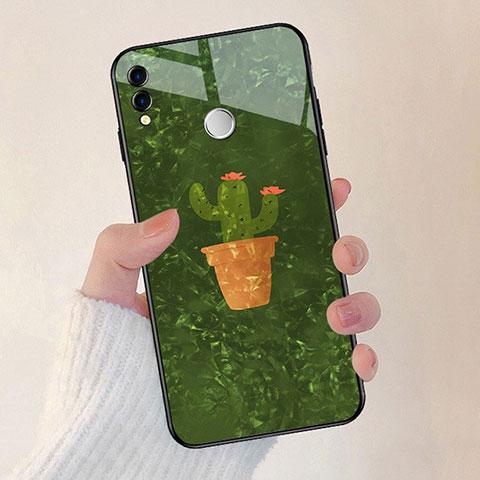Silikon Hülle Handyhülle Rahmen Schutzhülle Spiegel Blumen für Huawei Honor 8X Grün