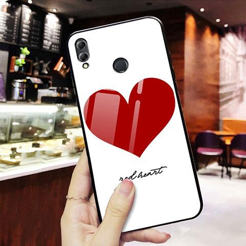 Silikon Hülle Handyhülle Rahmen Schutzhülle Spiegel Liebe Herz S02 für Huawei Honor 8X Rot