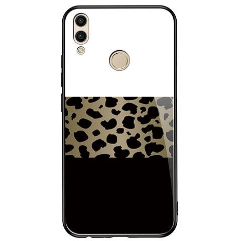 Silikon Hülle Handyhülle Rahmen Schutzhülle Spiegel Modisch Muster für Huawei Honor 8X Schwarz