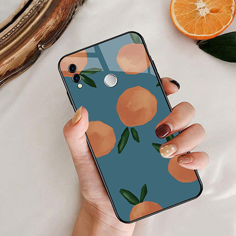 Silikon Hülle Handyhülle Rahmen Schutzhülle Spiegel Obst für Huawei Honor 8X Blau