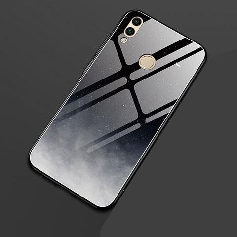 Silikon Hülle Handyhülle Rahmen Schutzhülle Spiegel Sternenhimmel für Huawei Honor 8X Schwarz