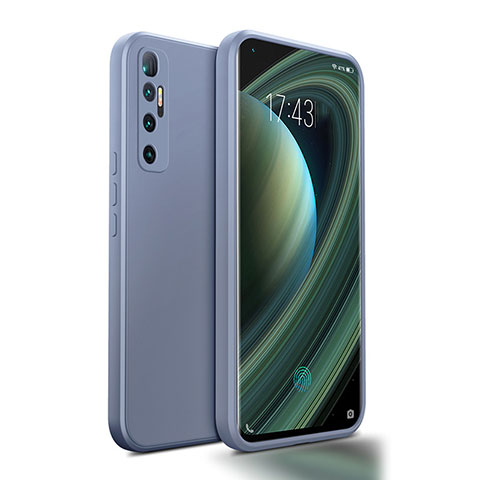 Silikon Hülle Handyhülle Ultra Dünn Flexible Schutzhülle 360 Grad Ganzkörper Tasche S01 für Xiaomi Mi 10 Ultra Lavendel Grau