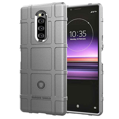 Silikon Hülle Handyhülle Ultra Dünn Schutzhülle 360 Grad Tasche für Sony Xperia XZ4 Silber