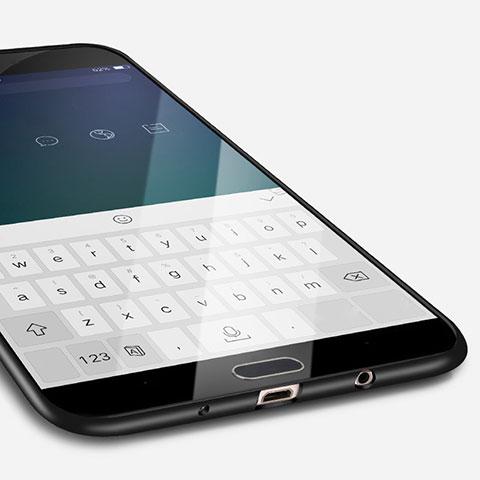 Silikon Hülle Handyhülle Ultra Dünn Schutzhülle S02 für Samsung Galaxy J7 Prime Schwarz
