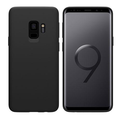 Silikon Hülle Handyhülle Ultra Dünn Schutzhülle S03 für Samsung Galaxy S9 Schwarz
