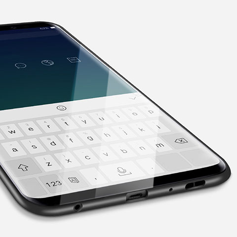 Silikon Hülle Handyhülle Ultra Dünn Schutzhülle S04 für Samsung Galaxy S9 Schwarz