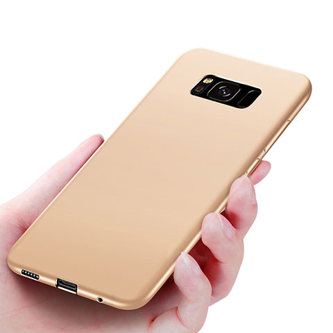 Silikon Hülle Handyhülle Ultra Dünn Schutzhülle S06 für Samsung Galaxy S8 Gold