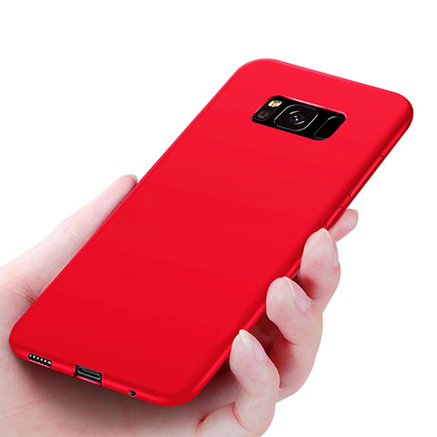 Silikon Hülle Handyhülle Ultra Dünn Schutzhülle S06 für Samsung Galaxy S8 Rot