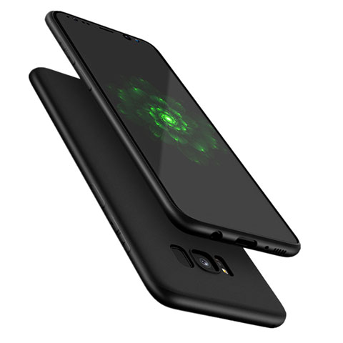 Silikon Hülle Handyhülle Ultra Dünn Schutzhülle S09 für Samsung Galaxy S8 Plus Schwarz