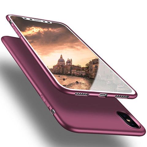Silikon Hülle Handyhülle Ultra Dünn Schutzhülle S16 für Apple iPhone Xs Max Violett