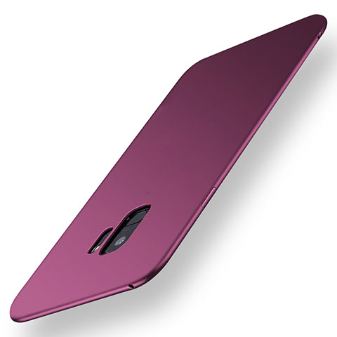 Silikon Hülle Handyhülle Ultra Dünn Schutzhülle Tasche S01 für Samsung Galaxy S9 Violett