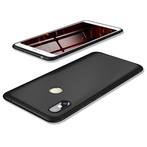 Silikon Hülle Handyhülle Ultra Dünn Schutzhülle Tasche S02 für Xiaomi Redmi S2 Schwarz