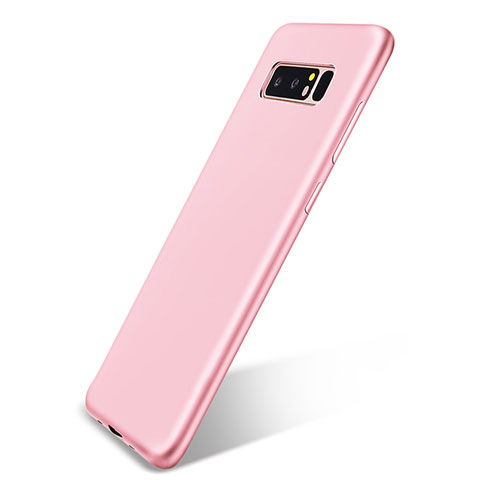 Silikon Hülle Handyhülle Ultra Dünn Schutzhülle Tasche S05 für Samsung Galaxy Note 8 Duos N950F Rosa