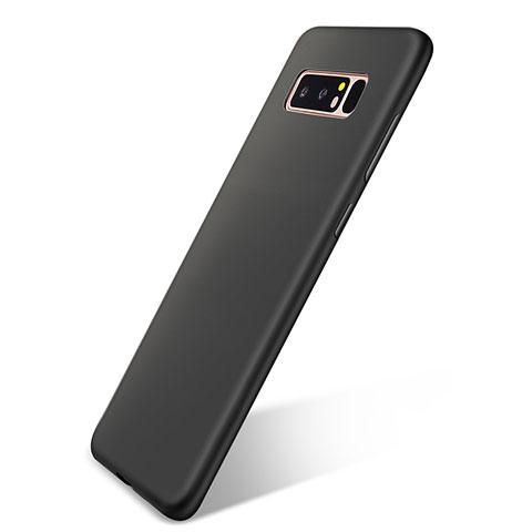 Silikon Hülle Handyhülle Ultra Dünn Schutzhülle Tasche S05 für Samsung Galaxy Note 8 Duos N950F Schwarz