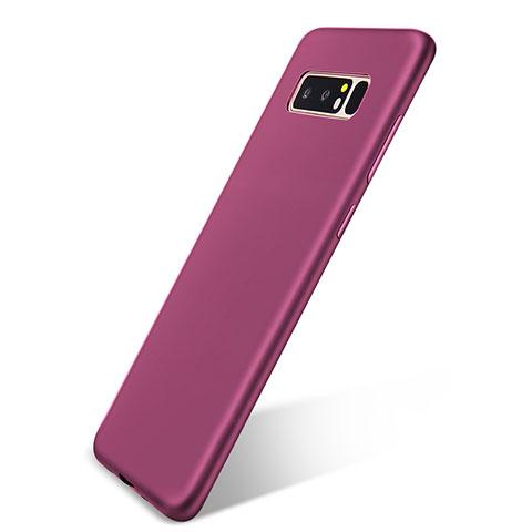Silikon Hülle Handyhülle Ultra Dünn Schutzhülle Tasche S05 für Samsung Galaxy Note 8 Violett