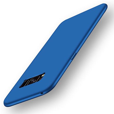 Silikon Hülle Handyhülle Ultra Dünn Schutzhülle Tasche S05 für Samsung Galaxy S8 Blau