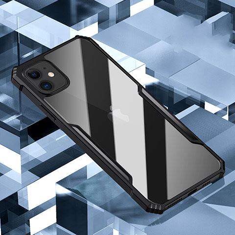 Silikon Schutzhülle Rahmen Tasche Hülle Durchsichtig Transparent Spiegel H01 für Apple iPhone 11 Schwarz